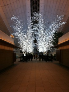 Sparkly trees in Haneda Airport