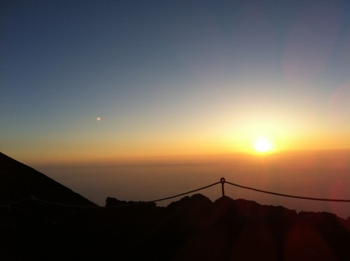 Sunrise from the eighth station.
